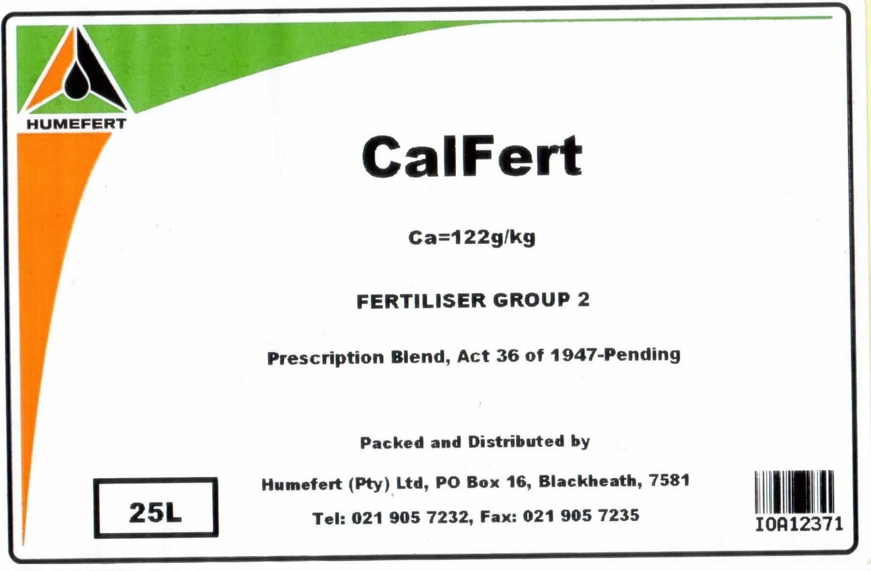 Blackgold enriched foliar fertilisers